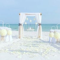 beach wedding package, destin florida, barefoot weddings, arbor, photos, aisle way