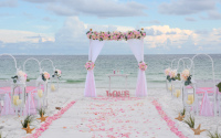 beach wedding package, barefoot weddings, destin florida, wedding arbor