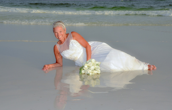 barefoot weddings, bride, destin florida, photos